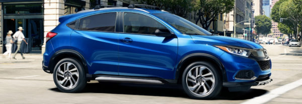 Blue 2019 Honda HR-V at intersection